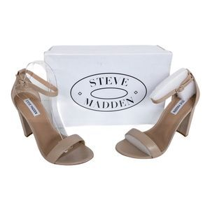 Steve Madden Blush Tan Carrson Leather Sandals 9.5